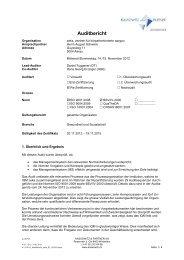 Bericht Audit Rezertifizierung gesamte Organisation vom November ...