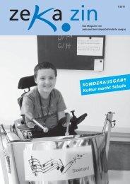 zekazin 1/2011 - zeka, Zentren körperbehinderte Aargau