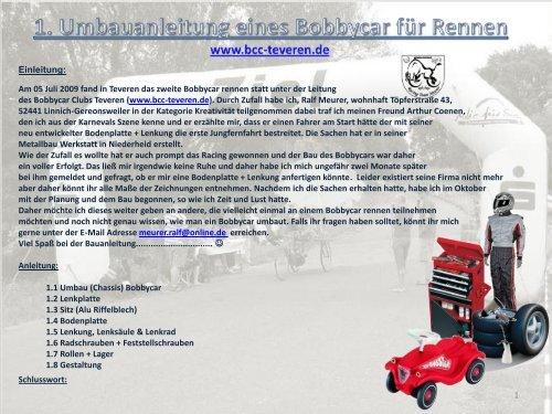Umbauanleitung Bobbycar Rennen