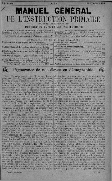 Annonce: ^ MANUEL GÉNÉRAL - INRP