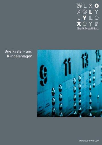 Klingel Briefkasten - Xylo-Wolf.de