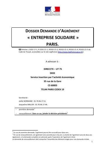 formulaire actualisé en mai 2013 (pdf - 814.7 ko) - Direccte