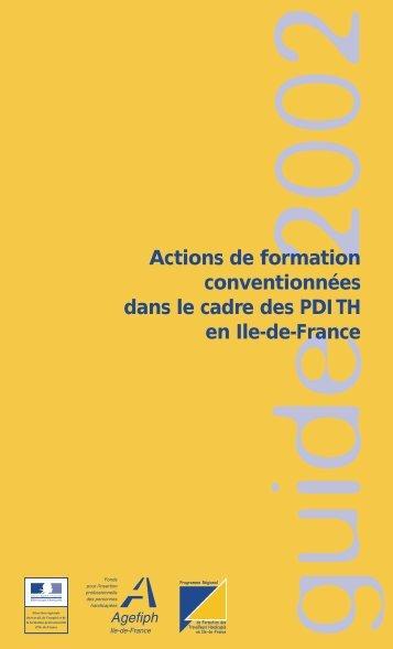 Actions de formation conventionnées dans le cadre des PDI TH en ...