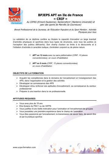 dissertation bpjeps apt