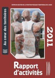 Rapport 2011 - CDG Aude