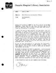 E2.1 NEWSLINE V1 1-3 1986 - Ontario Health Libraries Association