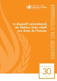 Le dispositif conventionnel des Nations Unies relatif aux droits de l ...