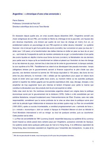 Pierre Salama - Red Eurolatinoamericana Celso Furtado