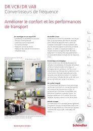 DR VCB / DR VAB Convertisseurs de fréquence Améliorer le confort ...