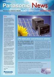 LFG relais pour convertisseurs solaires - Panasonic Electric Works