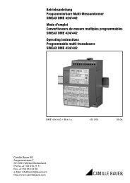 Betriebsanleitung Programmierbare Multi-Messumformer SINEAX ...