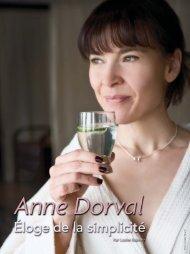 Anne Dorval, éloge de la simplicité - fuga destination spa