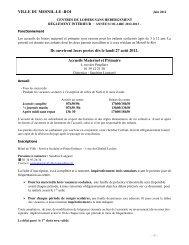 Réglement 2012/2013 des centres de loisirs - Mesnil-le-Roi