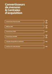 Convertisseurs de mesures & Centrales d'acquisition - capteur de ...