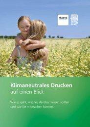 Klimaneutrales Drucken - Thamm the imagemaker
