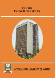 French Grammar II - National Open University of Nigeria