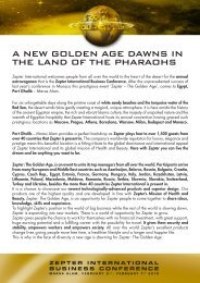 a new gdlden age dawns in the land df the pharadhs - Zepter