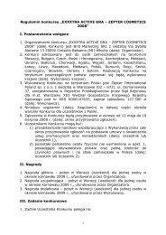 regulamin _3_ konkursu exxxtra - Zepter