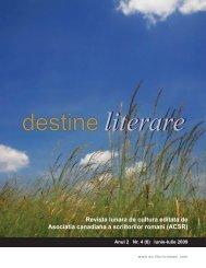 literare destinedestine - Scriitorii Romani din Canada