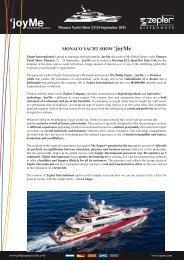 Monaco Yacht Show 'joyMe - Zepter