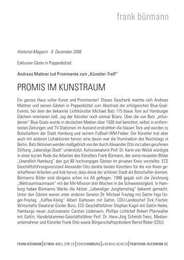 Alstertal-Magazin 8. Dezember 2006 - The Art of Hamburg