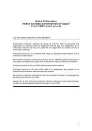Notice d'information relative aux textes conventionnels en ... - Ucanss