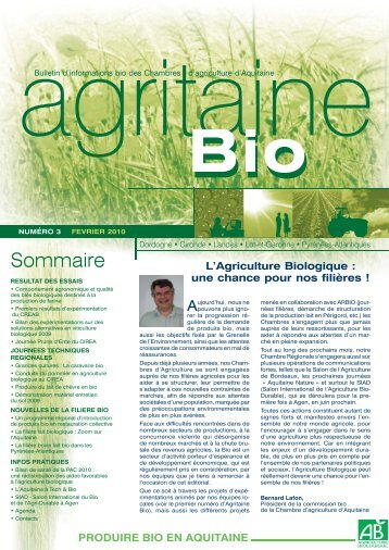 Agritaine info n 56 chambre r gionale d 39 agriculture for Chambre agriculture indre