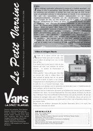 Téléchargez le bulletin - Mairie de Vars