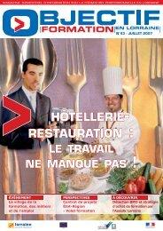 HÔTELLERIE- RESTAURATION : - Inffolor