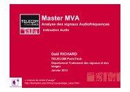Indexation Audio - Sites personnels de TELECOM ParisTech