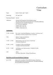 Curriculum Vitae - Zentrum für Europäische Wirtschaftsforschung ...