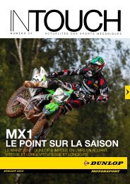 LE POINT SUR LA SAISON - Dunlop Motorsport