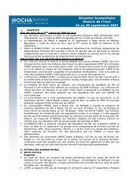 Situation humanitaire District de l'Ituri 24 au 30 ... - ReliefWeb