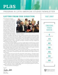 PLAS Fall 2009 Newsletter - Princeton University