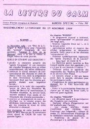 JML 1989 11 19 Lettre du CALM Allocution Au service de la liturgie ...