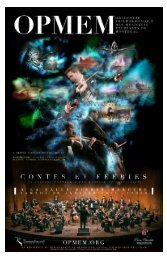 Exemple de programme de concert - Orchestre philharmonique des ...