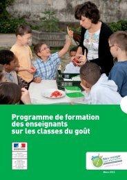 Guide de formation des enseignants - Portail public de l'alimentation