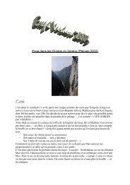 Expé dans les Gorges du Verdon (Pâques 2003) 1 jour - Cap Expé