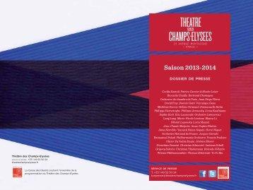 Saison 2013-2014 - Théâtre des Champs Elysées