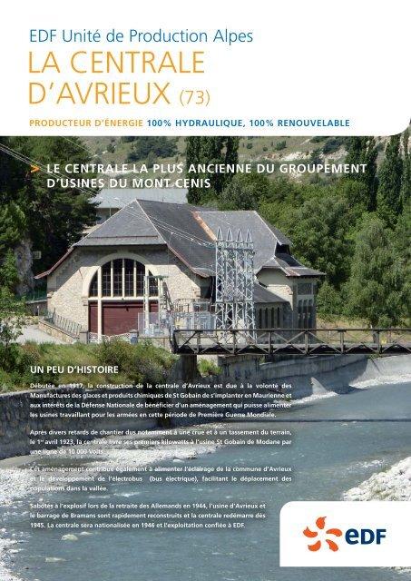 LA CENTRALE D'AVRIEUX (73) - Energie EDF