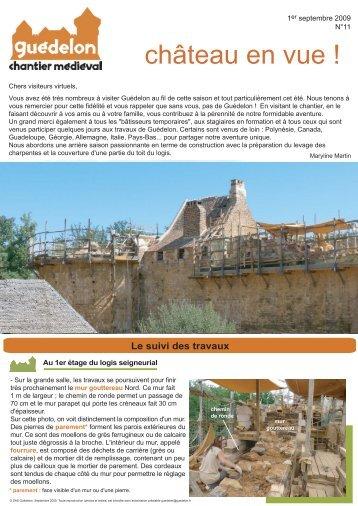 """Château en vue !"" N°11 (PDF - 468 Ko) - Guédelon"