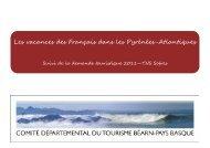 Les vacances des Français dans les Pyrénées-Atlantiques