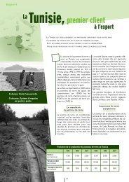 La Tunisie , premier client à l'export - Plants de Bretagne