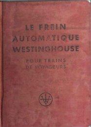 Le frein automatique Westinghouse pour trains de voyageurs