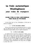 Le frein automatique Westinghouse pour trains de voyageurs - Page 5