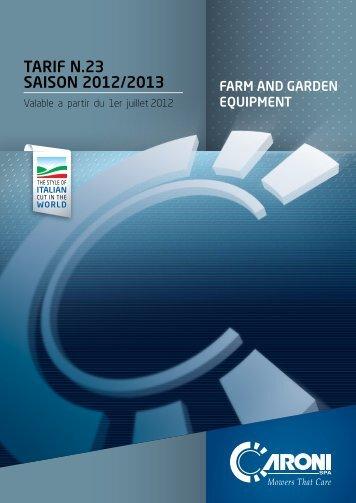 tariF n.23 SaiSOn 2012/2013 - Caroni Spa
