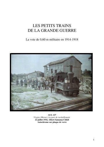 """PDF """"Les petits trains de la Grande Guerre"""" - ecpad"""