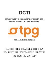 Cahier des charges pour la fourniture d'appareils de voie en ... - tpg