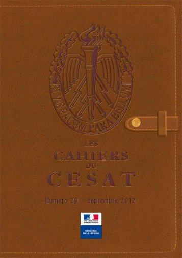 Cahier n°29 - cesat - Ministère de la Défense