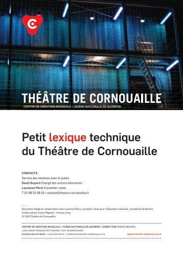 Télécharger le lexique - Théâtre de Cornouaille